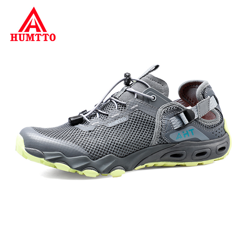 HUMTTO Brand New Men Aqua Shoes Summer Mens Water Shoes Breathable Outdoor Light Elastic Band Beach Upstream Sneakers Big Size