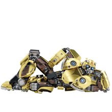 MU Art Model 3D Metal Puzzle T6 Yellow Robot model DIY 3D Laser Cut Assemble Jigsaw Toys Desktop decoration GIFT For Children