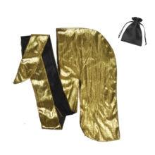Paillettes d'or de luxe brillant bling personnalisé soyeux en gros durag dans le sac