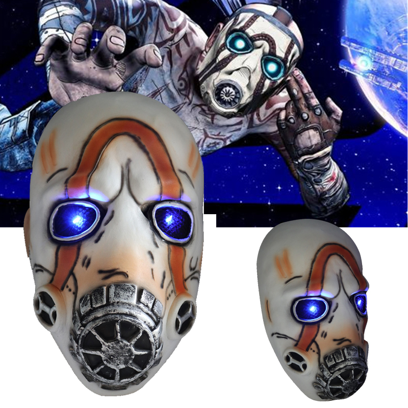 LED <font><b>Borderlands</b></font> 3 Psycho Mask Cosplay Krieg Latex Masks Halloween Party Props LED/No LED 2 Types Wholesale image