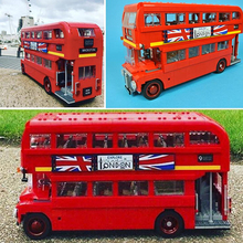 Creator City Series The London Bus Station Car Building Blocks Sets Bricks Model Kids Kits Toys Children Classic Compatible недорого