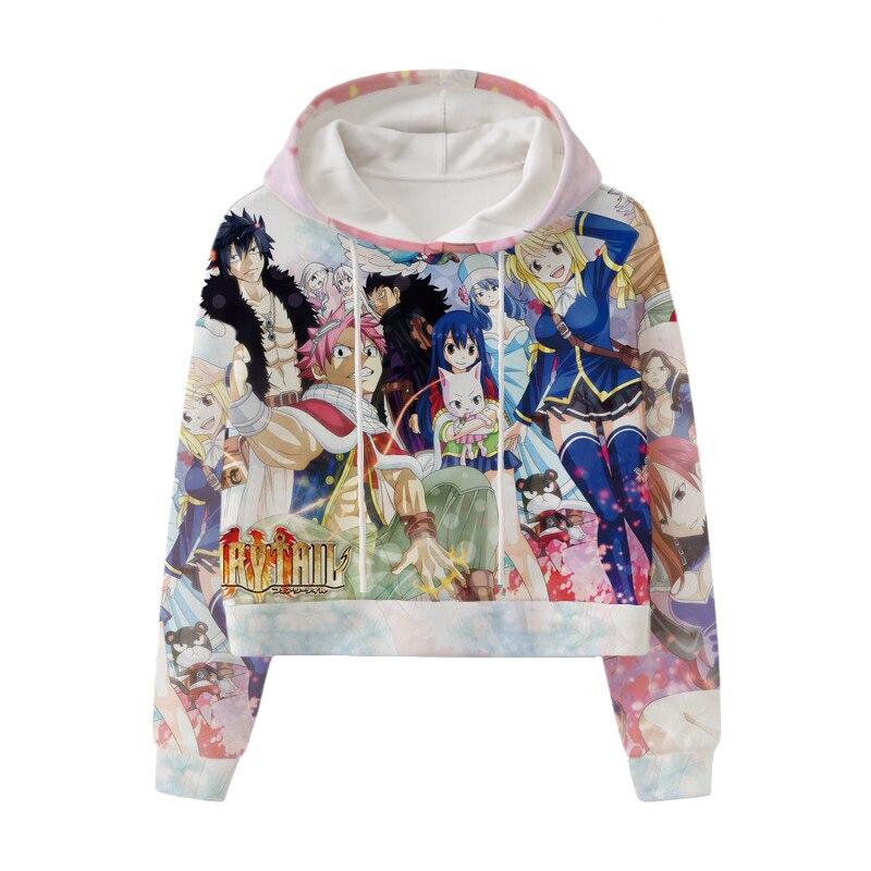 Haililais Fairy Tail Felpa Anime Stampa Hoodie Casual Felpa con Cappuccio Allentato Pullover for Adulti e Bambini Fairy Tail Pullover