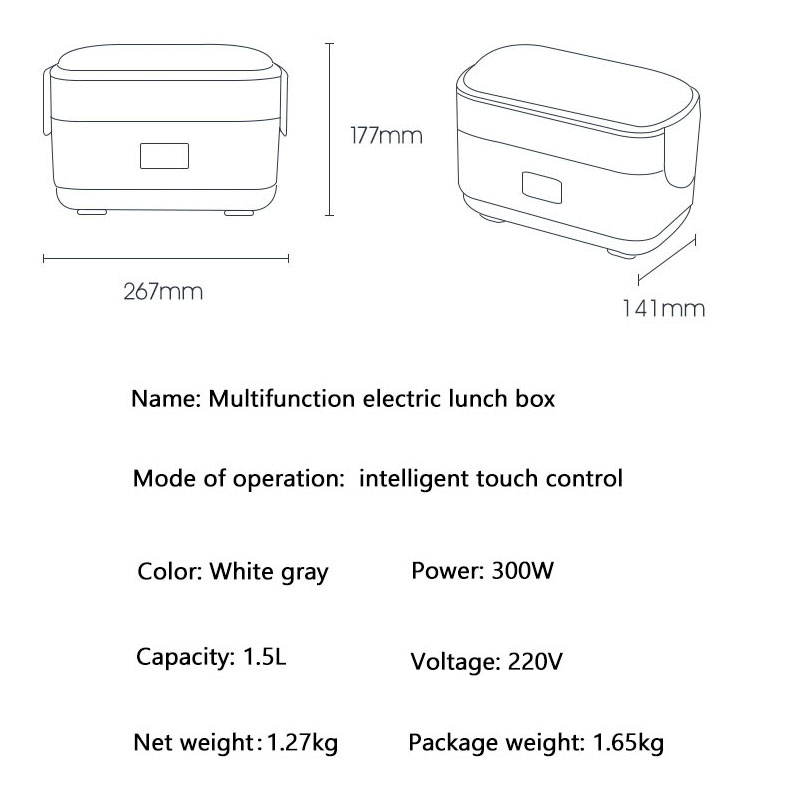 Image 5 - Double layer Electric Lunch Box Small Rice Cooker Automatic Heating Timing Insulation Mini Office Worker Double layer Cooking-in Rice Cookers from Home Appliances