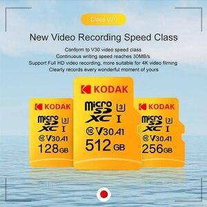 Image 4 - Kodak Micro SD U3 U1 Micro SD Memory Card Micro SD 512GB 256GB 64GB 128GB Flash TF Card for Tablet карта памяти cartao de memori