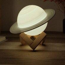 3D Remote Control Night Light Planet Romantic Creative Led Gift Night Light Girl Lamps Luzes Da Noite Bedroom Decor DE50YD