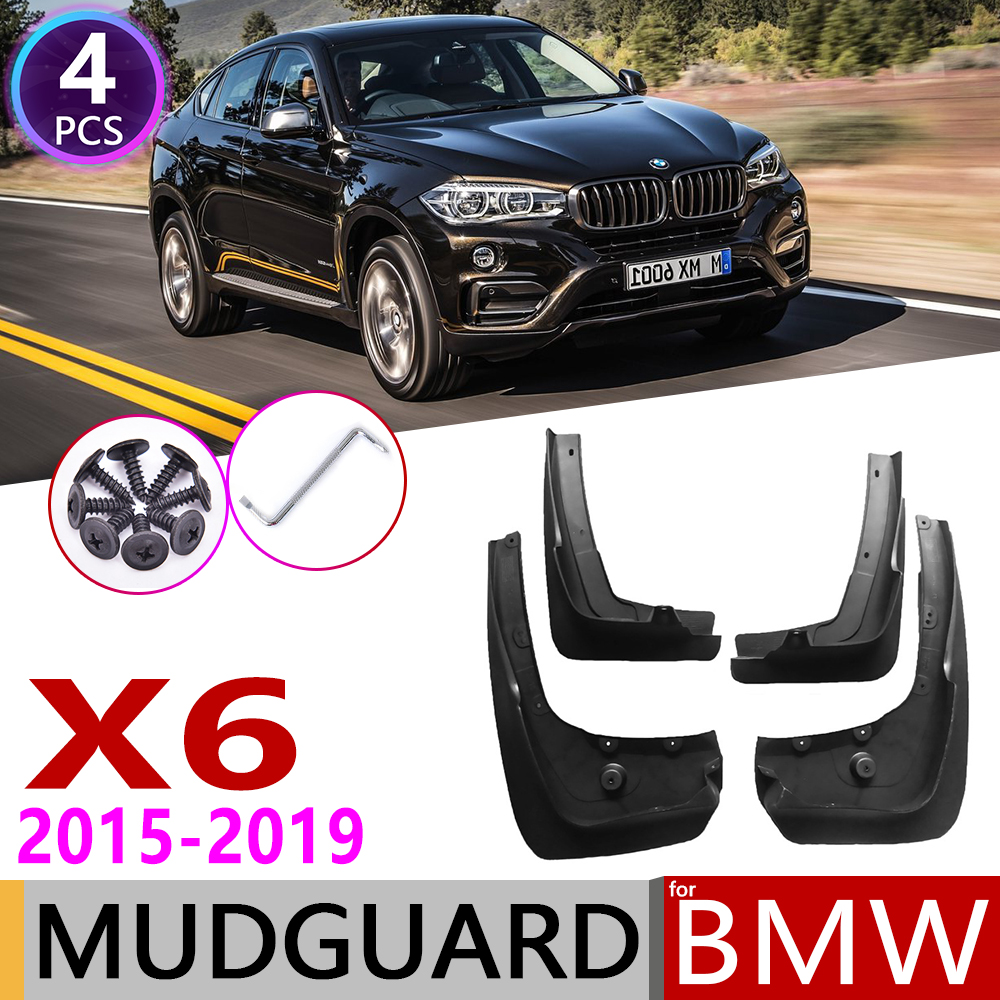 For BMW X6 F16 2015~2019 Ca Mudguard Fender Mud Guard Flaps Splash Flap Mudguards Accessories 2016 2017 2018 35i 50i 30d 40d 50d|Car Stickers| |  - title=
