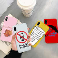 GYKZ Fashion Trend Gilmore Girls Phone Case For iPhone 7 11 Pro XS MAX XR X 8 6 6s Plus Coffe Cup Soft Matte Back Cover Capa Bag