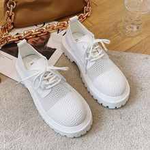 New Fashion Lace Up Casual  Flats Loafers Women Shoes Summer Breathable Mesh Platform Shoes Women 2021  Zapatos De Mujer