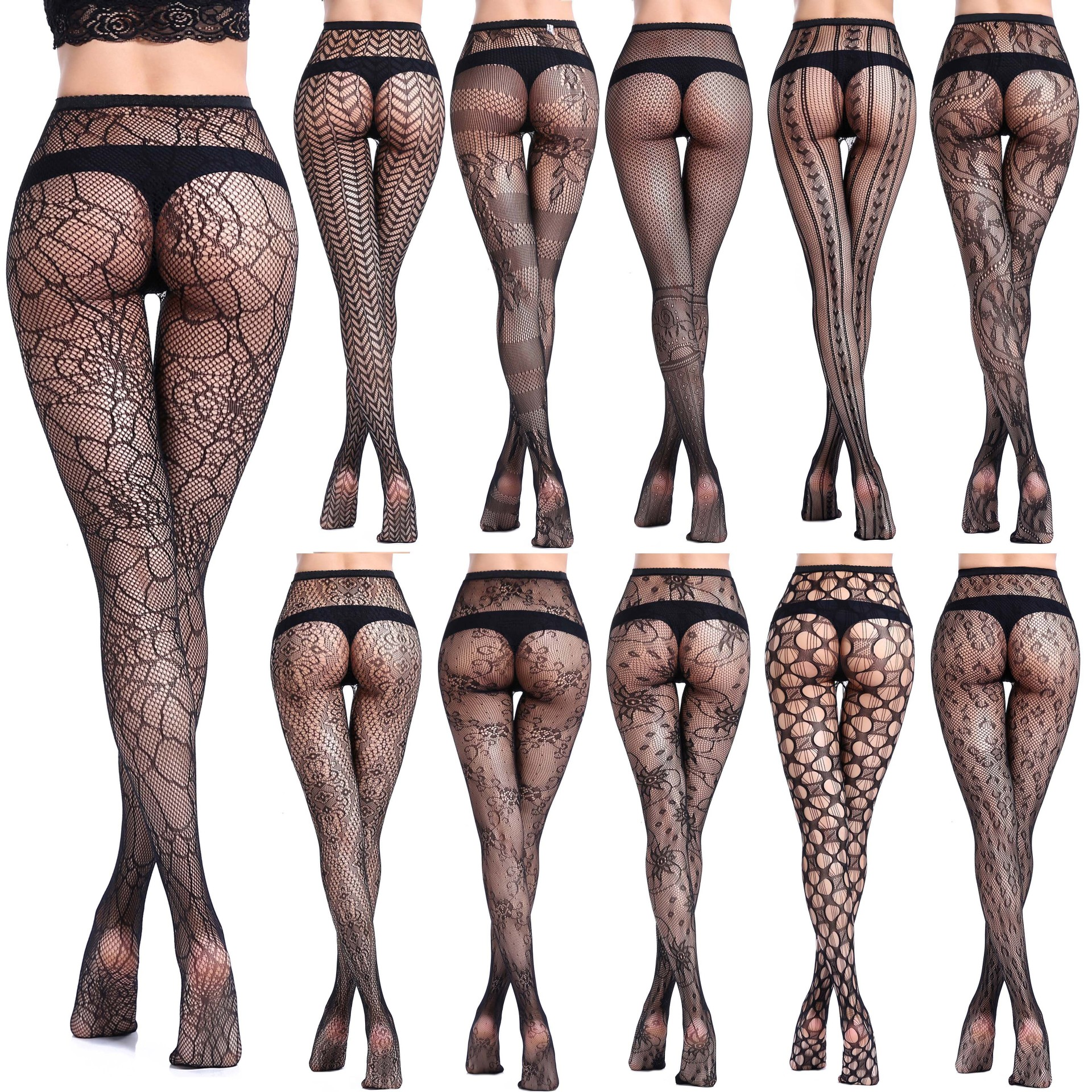 Sexy Mesh Stocking Tights For Women Fishnet Stockings Pantyhose Women Sexy Female Pantyhose Hosiery Elastic Tights With Pattern