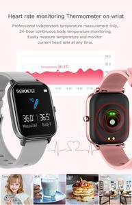 Image 2 - ساعة P8 pro متصلة ، شاشة تعمل باللمس 1.4 بوصة عالية الدقة ، درجة حرارة الجسم ، وضع رياضي متعدد ، جهاز تعقب للياقة البدنية P8T
