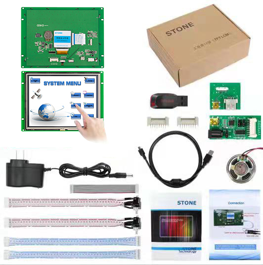 8,0 дюймовый HMI сенсорный ЖК TFT монитор/дисплей RS232 с ЖК сенсорной панелью