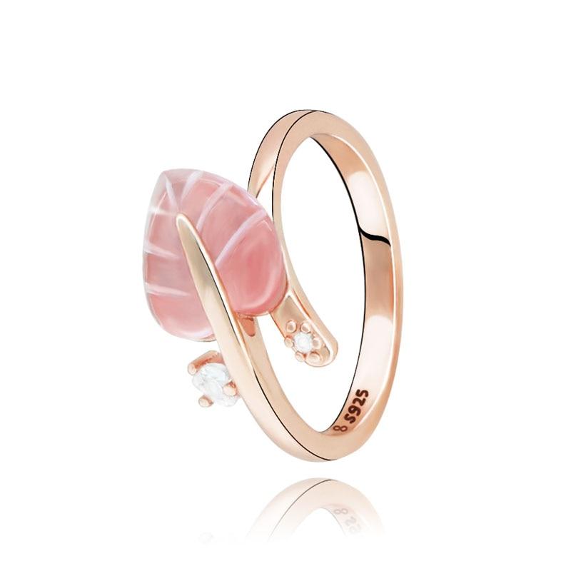 Bague en argent Sterling 2019 pour femmes, bague en feuille de verre de  Murano rose, bijoux de fiançailles, anniversaire, noël, nouvelle collection  ...