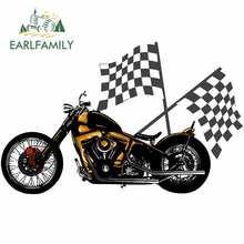 EARLFAMILY 13cm x 8.3cm Vintage Chopper motosiklet araba tampon pencere çıkartmaları vinil araba Sticker 3D komik VAN SUV RV çıkartması