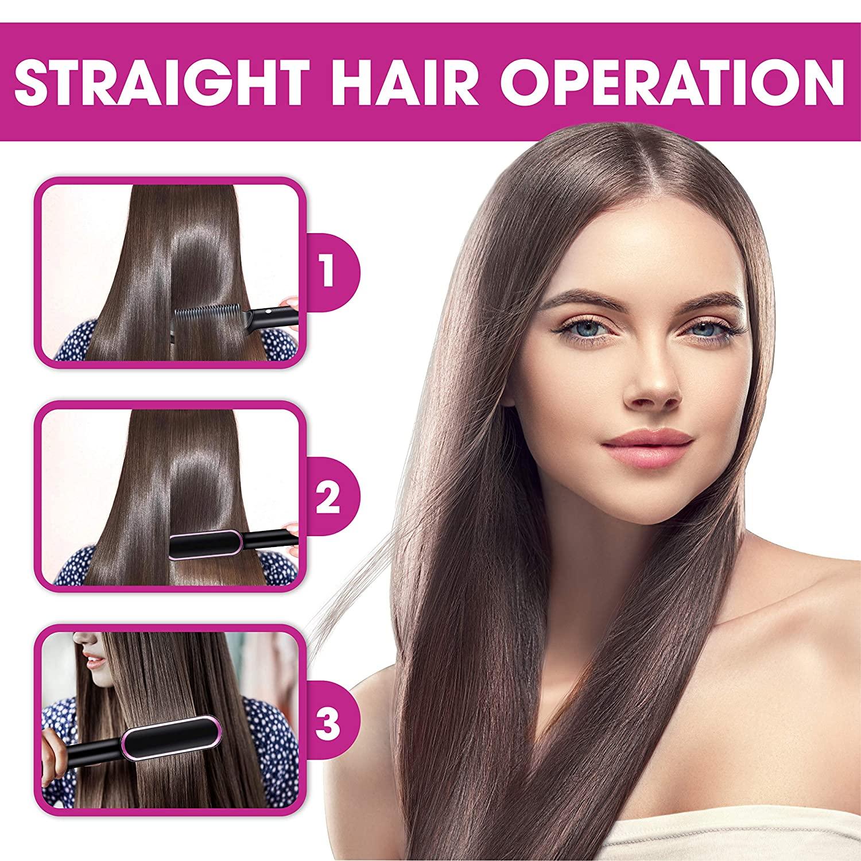Профессиональный Выпрямитель для волос, керамическая плойка с турмалином, расческа для волос, утюжок для завивки волос, инструмент для укладки 3