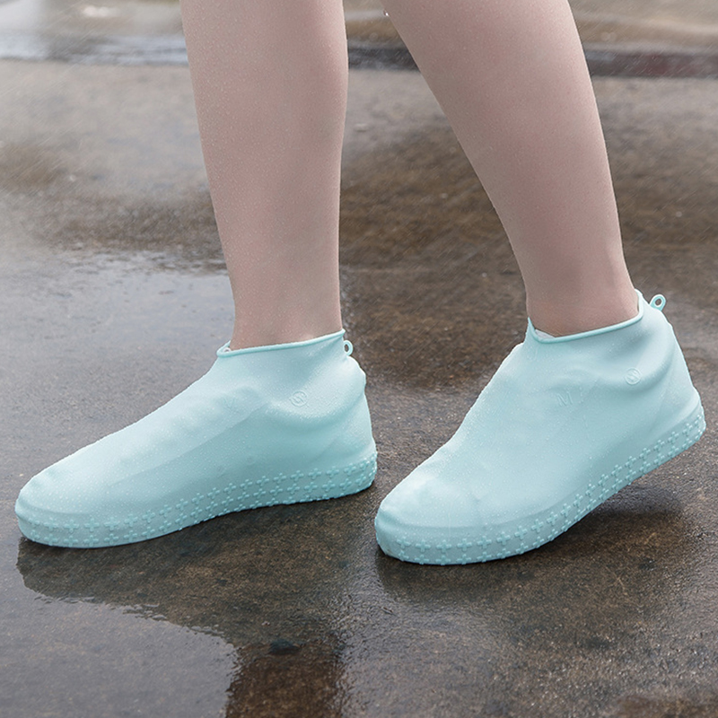 Reusable Waterproof Shoe Cover Slip-resistant Rain Boots Overshoes Silicone Elastic Covers Protector Women Men Shoes Accessories