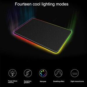 RGB игровой коврик для мыши с подсветкой для светодиодных компьютерных мышей коврик с подсветкой геймер PU нескользящий водонепроницаемый и ...