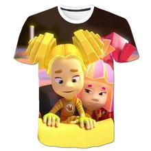 Camiseta de manga corta en espiral con estampado 3D de los nuevos hombres 2021