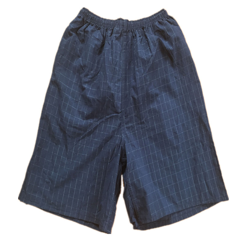 Men Plaid Beach Shorts Non-Fading Short Casual Sports Cotton Linen Middle-aged Hot Selling Rafting Booth Goods