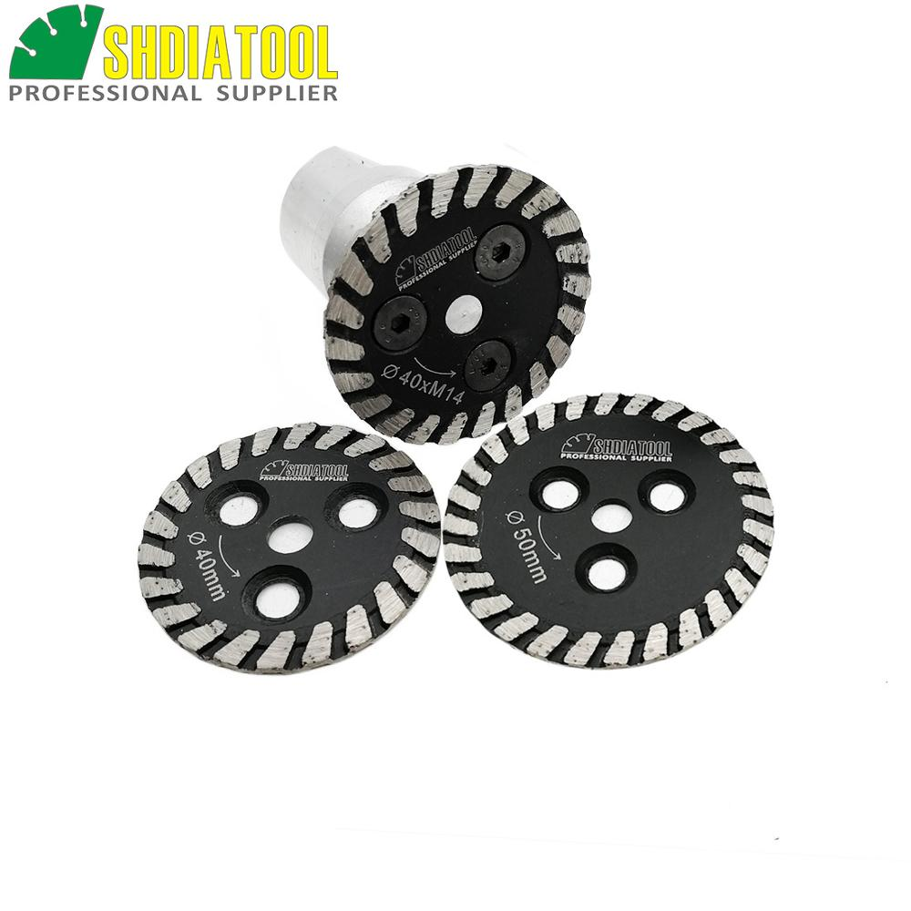 SHDIATOOL 1pc Hot Pressed Mini Diamond Blade With Removable M14 Long Flange And 2pcs Blades Engraving Carving Disc Granite