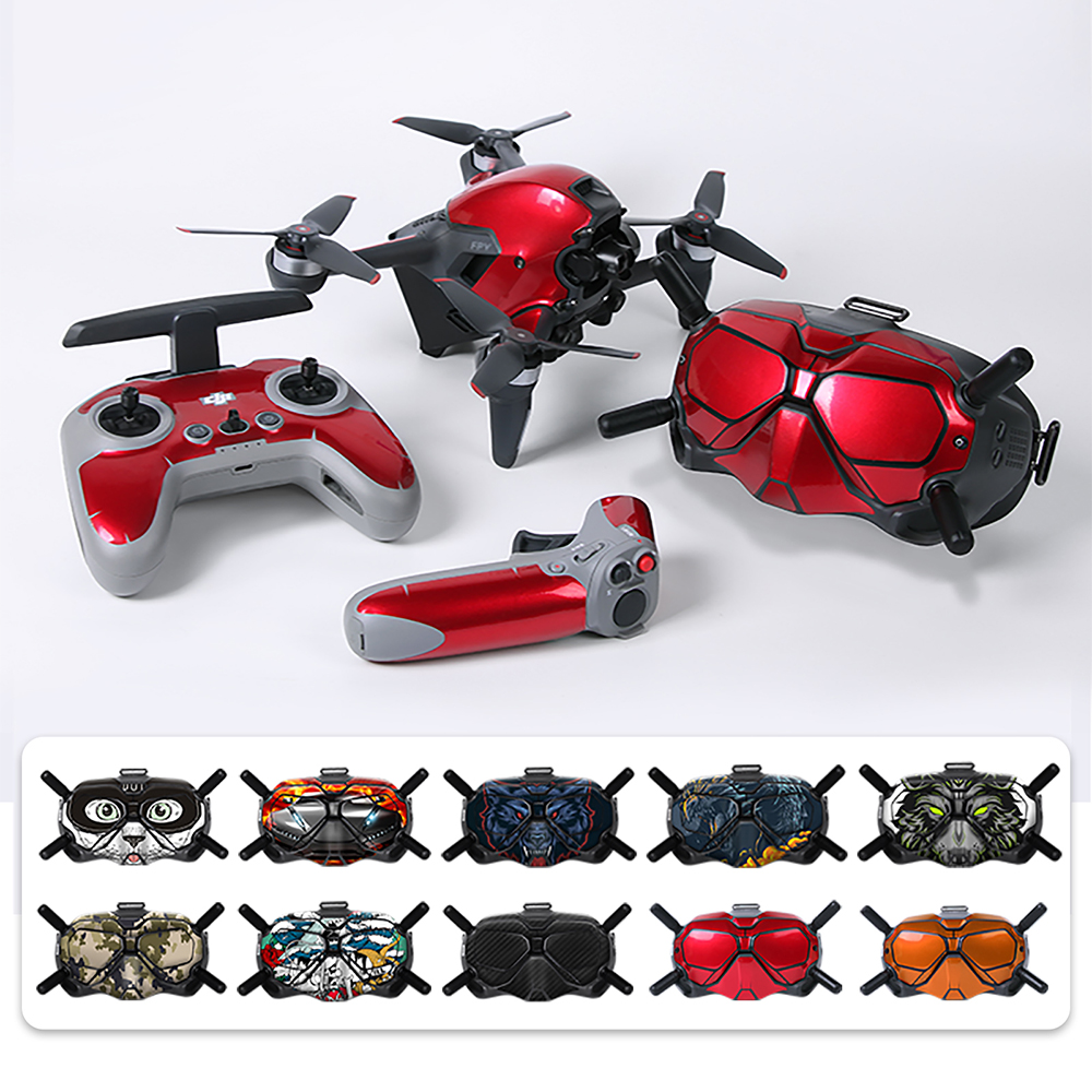 Cool DJI FPV Sticker Decal Skin Protective Cover PVC Stickers for DJI FPV Comb Goggles Accessories