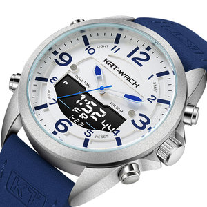 KT Wristwatch Mens Luxury Watch for Men Leather Watch Man Military Army Style Quartz Digital Gents Casual Waterproof