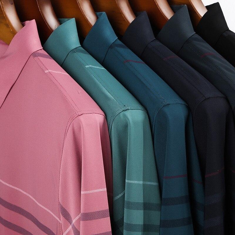 Ymwmhu Fashion Slim Men Polo Shirt Black Short Sleeve Summer Thin Shirt Streetwear Striped Male Polo Shirt for Korean Clothing 3