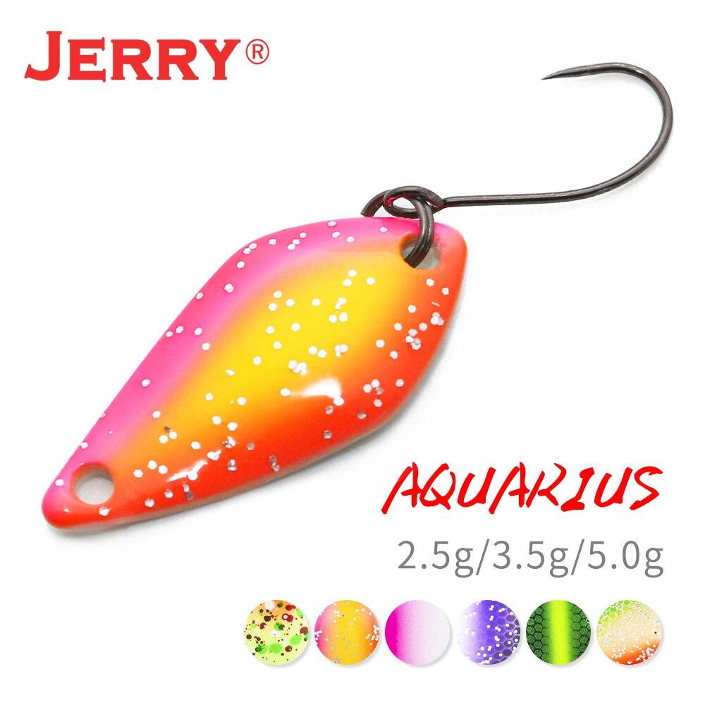 Jerry aquarius ultraleve colher de truta de água doce isca de pesca 2.5g 3.5g 5g micro metal fiação uv revestimento isca