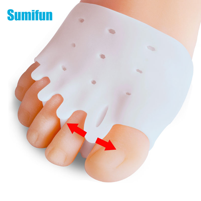2pcs Soft Silicone Foot Cushions Forefoot Pads For Feet Callus Blisters Corn Pain Relief Reusable Non-Slip Toe Separators C1657