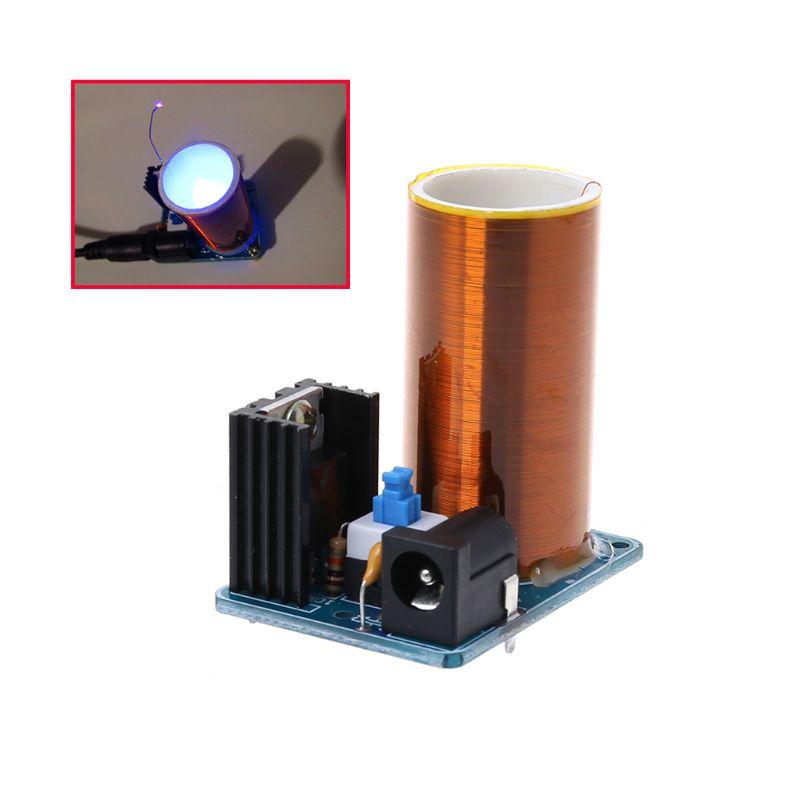 9-12V BD243 Mini Tesla Coil Kit Electronics DIY Parts Wireless Transmission DIY Board Set M7DF