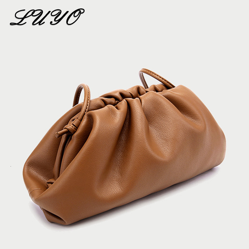 The Pouch Bag Day Clutch Soft Leather Hand Bag Dumpling Luxury Handbags Women Bags Designer Crossbody Bags For Female Big Ruched