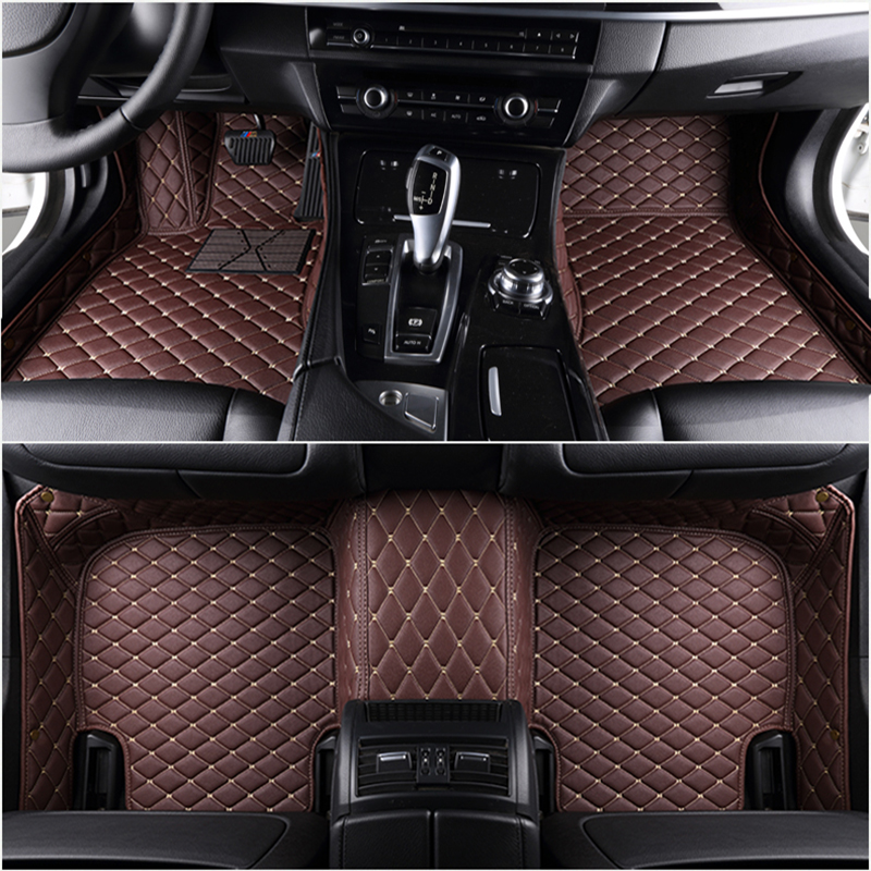 Custom 5 Seat car floor mats for Mercedes A-Class W168 W169 W176 W177 A-Klasse A160 A180 A190 A200 A220 A250 A35 AMG car mats