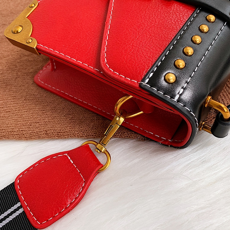 Hd79b745212c94a91a2cb5227c59d853cW - Female Fashion Handbags Popular Girls Crossbody Bags Totes Woman Metal Lion Head  Shoulder Purse Mini Square Messenger Bag
