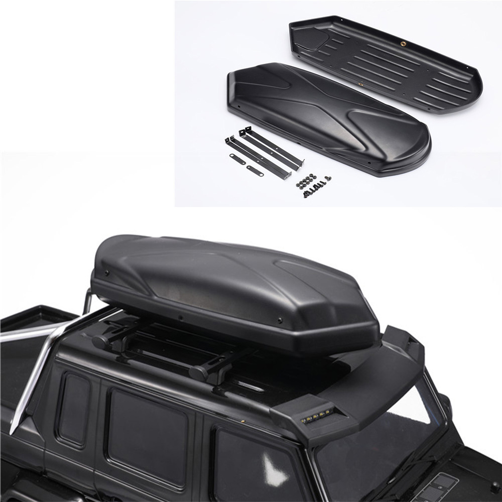 1/10 RC Crawler Roof Trunk Carrier Luggage Storage Box For Traxxas TRX6 G63 TRX4 G500 Bronco Axial SCX10 Drift Car Parts