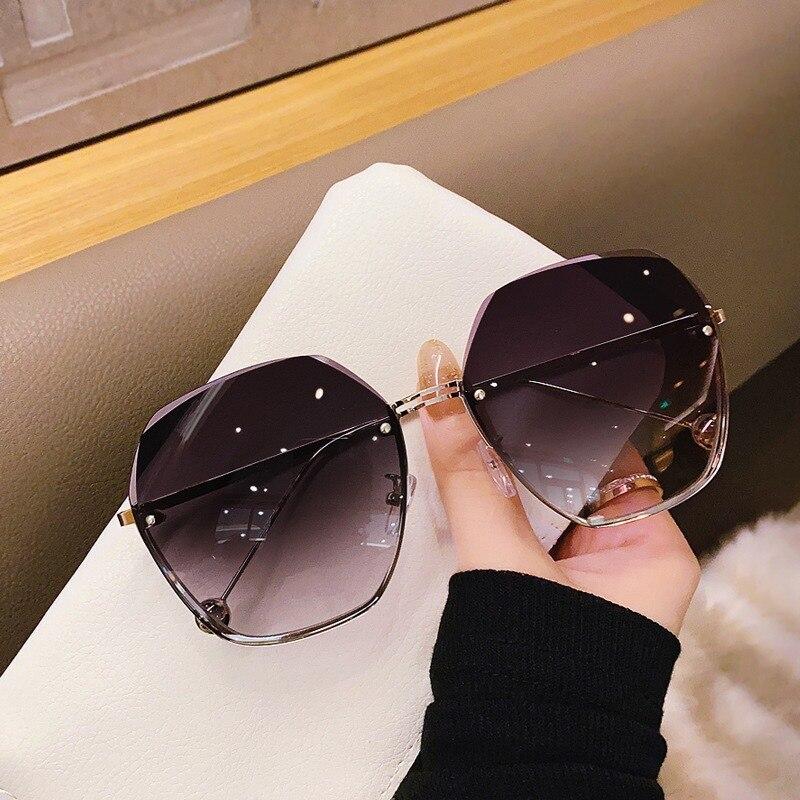 Модные оправы Солнцезащитные очки для женщин в винтажном стиле; Классические дизайнерские солнцезащитные очки женские металлические поли...