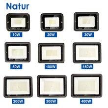 Luz de inundação led foco ip65 exterior à prova d220v água de projectores ac220v led refletor holofote spotlight iluminação ao ar livre