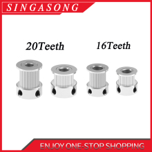 GT2 20 зубьев 16 зубьев 20 зубьев диаметр 5 мм/8 мм ГРМ Алюминиевый шкив подходит для GT2-6mm открытый ремень ГРМ для 3d принтера