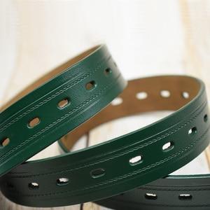 Image 4 - WESTERN AUSPICIOUS Men Belts Leather Designers Cowskin Male Strap With Alloy Buckle Ceinture Homme Green Blue belts cummerbunds