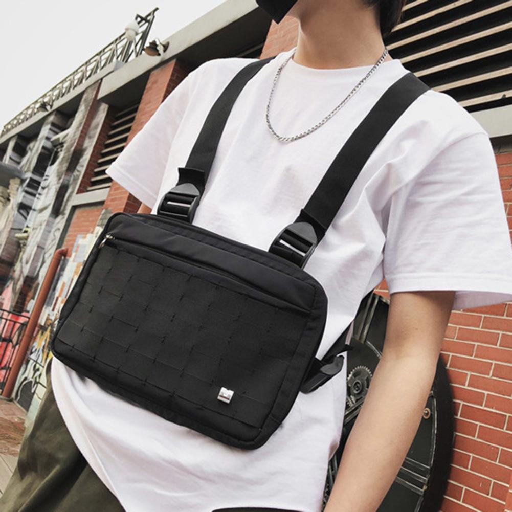 Unisex Chest Rig Waist Bag Packs Hip Hop Street Front Back Double Straps Vest Pack Multi Pockets Functional Chest Bag
