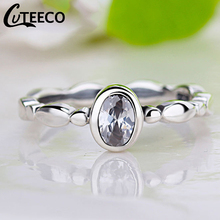 Cuteeco Hight Quality Silver Pan Ring Love Heart Ring Original Wedding Jewelry Gift For Lover Engagement Accessories cuteeco hight quality silver color 22 styles stackable pan finger ring for women original ring engagement jewelry gifts