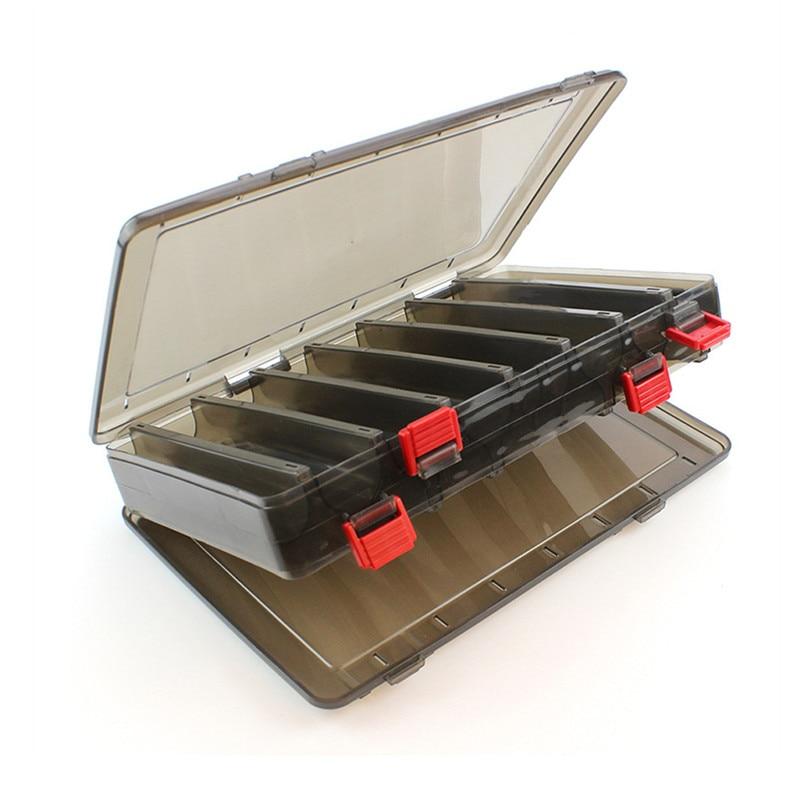 17*20 Cm/18.5*27.5 Cm Vissen Lokken Doos Dubbelzijdig Tackle Box Inktvis Jig Vissen Accessoire doos Vissen Lokt Visgerei - 3