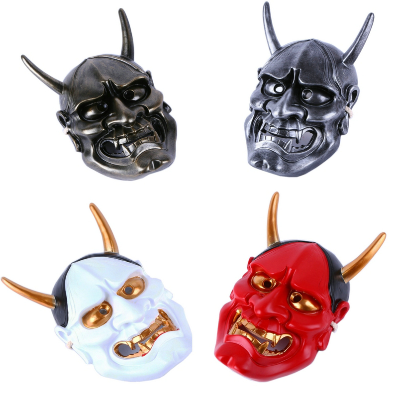 Image 2 - High Quality Halloween Horror Cosplay Mask Buddhism Prajna Ghost  Traditional Hannya Mask Japanese Theme Party Resin MaskParty Masks   -