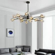 Nordic Chandelier Light Luxury Lamp in the Living Room Bedroom Restaurant Post-Modern Creative Personality Molecular Chandelier