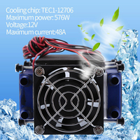 12V 576W 8 Chip Peltier Tool DIY Thermoelectric Cooler Air Cooling Device Refrigeration Aluminum TEC1 12706 Accessories Home