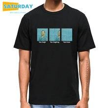 Homens Van Gogh Van Goghing Van Ido T Shirt Mulheres Engraçado Camiseta Homens Hip Hop 100% Algodão Camiseta Streetwear homme Tops, navio da gota
