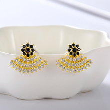 Fashion  Stainless Steel Zircon Stone stud Earrings wholesale Jewelry For Lady wedding birthday Party Gift