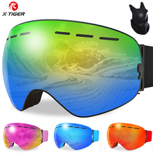 Ski-Goggles Glasses Anti-Fog Magnetic Sport Uv400-Protection Double-Layers Women X-TIGER
