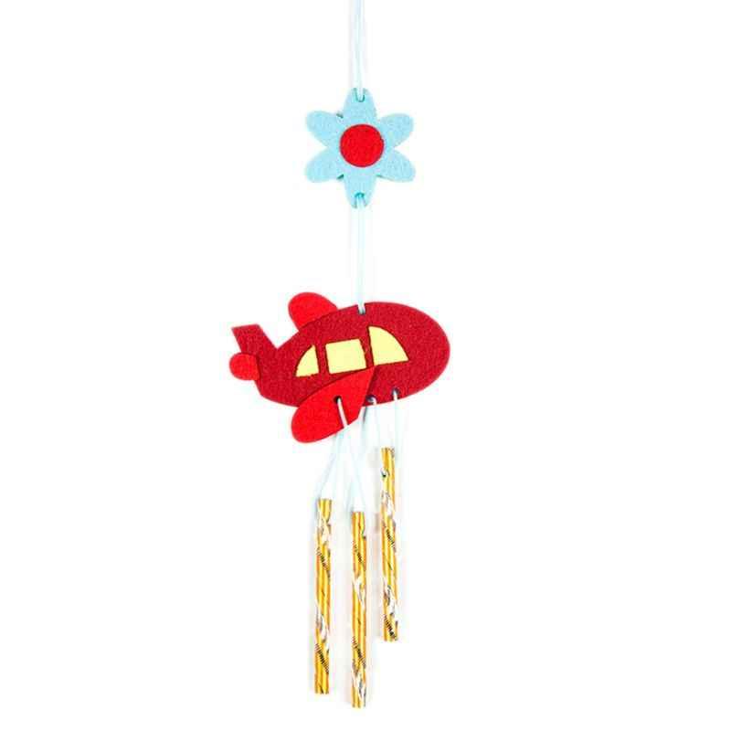 DIY viento Chime niños hecho a mano Animal de dibujos animados no tejido pasta hacer Material paquete niños niñas regalos