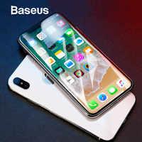 Protezione Dello Schermo Baseus Per iPhone X Vetro Temperato Ultra Sottile Anti Luce Blu Pieno di Copertura Dello Schermo Anteriore Per il iPhone X pellicola di vetro
