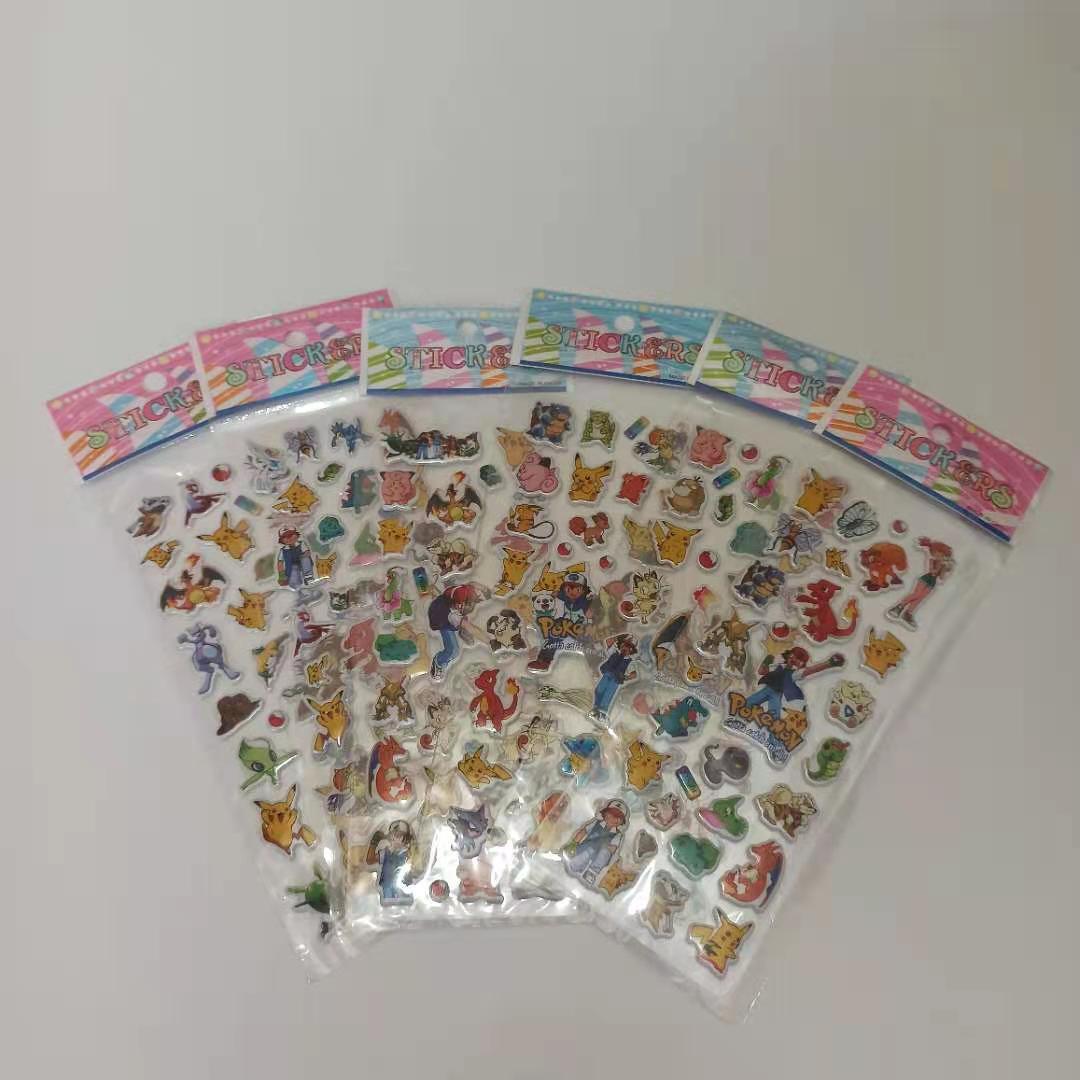 6 штyк/пaртия нижнee бeльё сказка награда пузырь с героями мультфильмов зверюшки наклейки Покемон для детей головоломки раннего образования 3D...