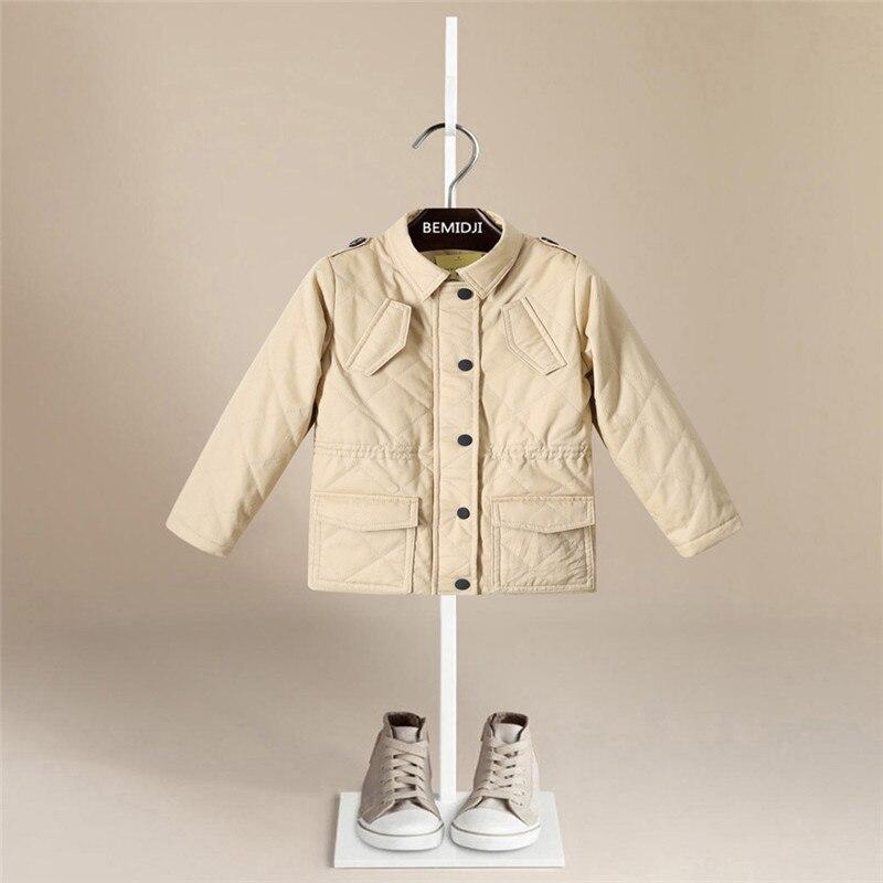 Новое весеннее повседневное хлопковое пальто с длинными рукавами для малышей хлопковая зимняя куртка известного бренда для мальчиков зимн